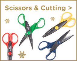 Christmas Scissors and Cutting