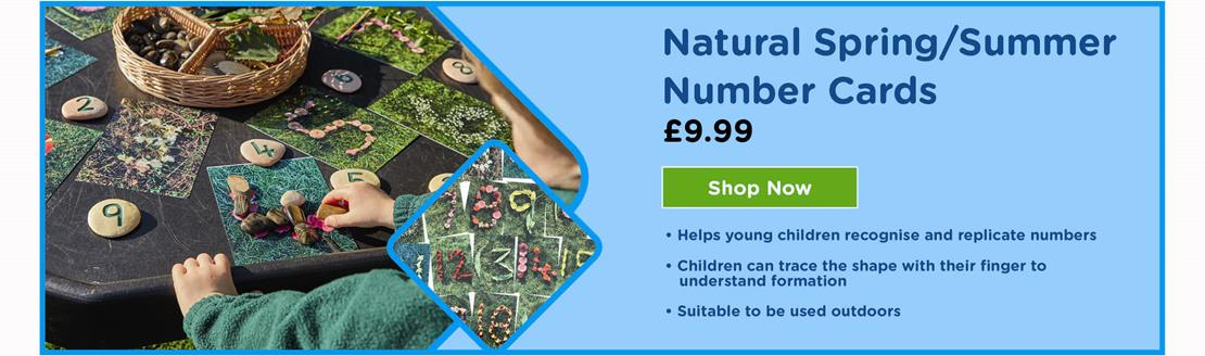 Natural Spring and Summer Number Cards